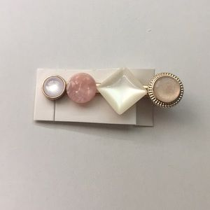 Multicolored Mixed Materials Statement Hair Clip